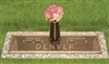 Evergreen Tree Companion Memorial Bronze Grave Marker