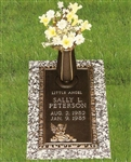 Ledger Infant Bronze Grave Marker