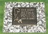 Our Baby Infant Bronze Grave Marker