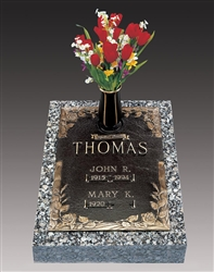 Dynasty Rose Double Interment Bronze Grave Marker