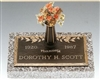 Dogwood Dynasty Memorial Bronze Grave Marker
