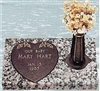 Heart Side Infant Memorial Bronze Grave Marker