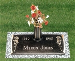Tea Rose Memorial Bronze Grave Marker