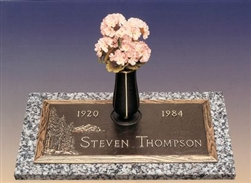Evergreen Memorial Bronze Grave Marker