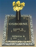 Oakleaf Double Interment Memorial Bronze Grave Marker