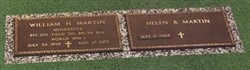 Simple Companion Memorial Bronze Grave Marker