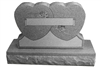 MIS-109-309 Companion Hearts Granite Headstone Monument