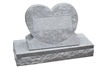 MIS-209 Single Heart Granite Headstone Monument