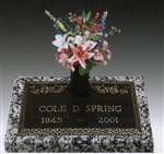 Dogwood Memorial Bronze Grave Marker