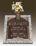 Pine Double Interment Memorial Bronze Grave Marker