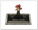 Rose Memorial Bronze Grave Marker