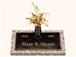 Simplicity Individual Bronze Grave Marker