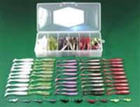 "C.A.L. 3"" Shad Tail 60 Piece Kit with Tackle Box"