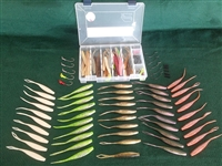 "C.A.L. 4"" Jerk Bait 65 Piece Kit with Tackle Box"