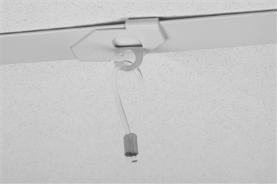 STAS Drop Ceiling Hook + Loop Perlon Cord + Zipper Hook
