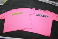 Bullet Hot Pink Ladies Front Logo T-Shirt