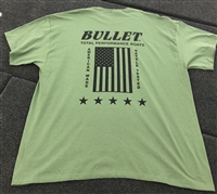 Bullet Stars and Stripes Graphic T-shirt with American Flag