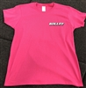 Ladies T-shirt Bullet Logo Sunset Ride Graphic on Back