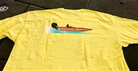 Bullet Graphic Boat Running T-Shirt Yellow with Graphics