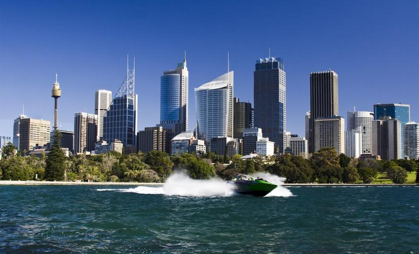 The Thrill Ride Jet Boat Adventure Tour in Sydney (Opera House, Clark and Shark Islands)