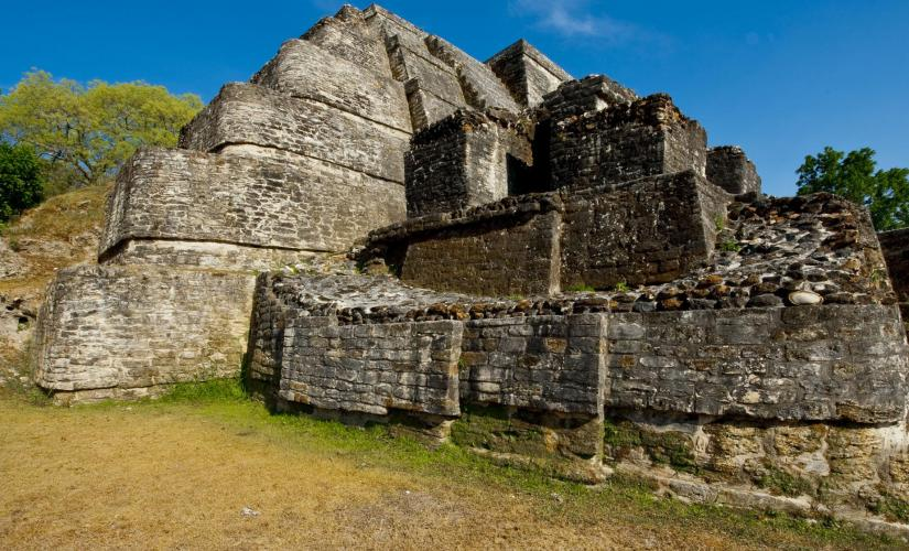 Mayan Ruins Altun-Ha Temple of Masonry Altars and Belize City Tour in Belize  St. John's Cathedral