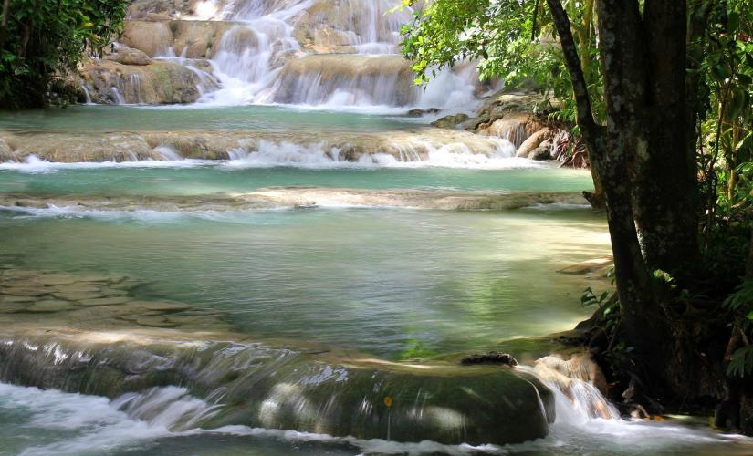 Dunn's River Falls and Horseback Ride Cruise in Falmouth Taino