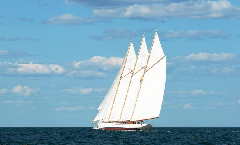 Traditional Wooden Schooner Sail in Key West Caribbean