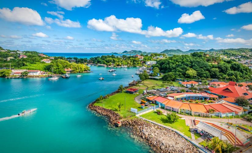Sightseeing in St. Lucia through Rodney Bay, Castries, Caribelle Batik & Stony Hill