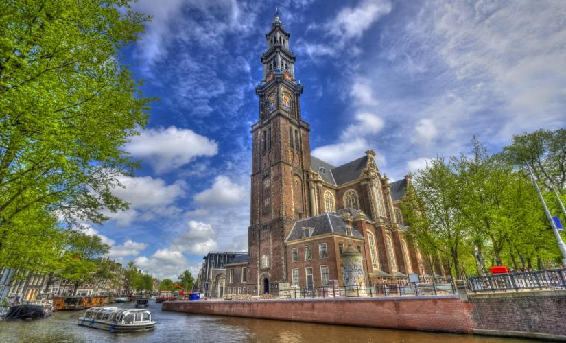 Amsterdam Highlights Cruise Tour (Westerkirk, the Anne Frank House, Skinny Bridge)