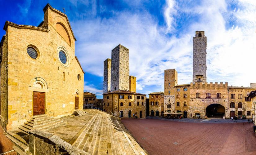 Locations from Tea with Mussolini and San Gimignano Shore Excursion