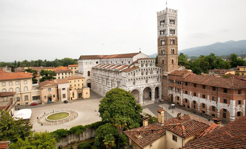 Private Treasures of Lucca Shore Trip to Piazza San Michele from Livorno