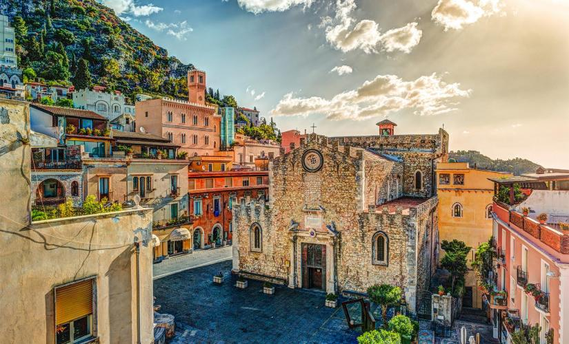 Private Transfer to Taormina from Messina Tour (The Piazza Vittorio Emanuele)