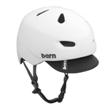 Bern Brentwood Gloss White (with or without visor)