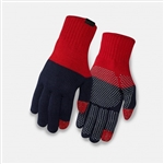 Giro Merino Gloves Red & Dress Blue