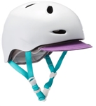 Bern Berkeley - Satin White (with Purple Visor and Blue Straps)