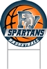 Yard Sign Spartan Basketball