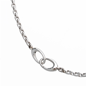 Heavy Oval Link Chain Bracelet 18k White or Yellow Gold