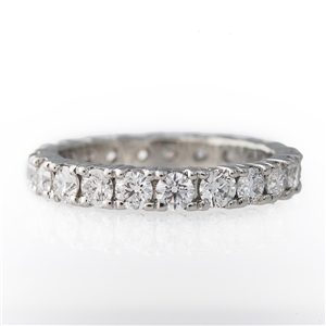 2ct Diamond Eternity Band 4 Prong Set 14k Gold