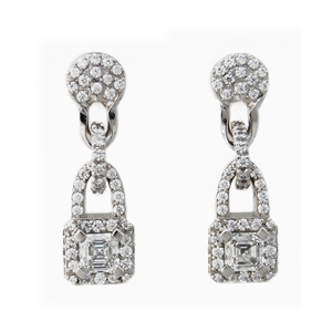 Asscher Cut Heaven Diamond Earrings 2.35ct