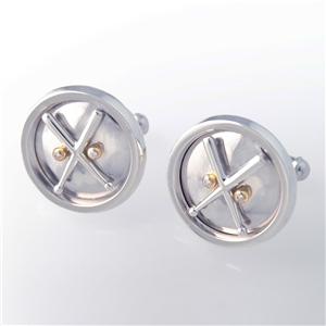 Take Him to the Ballgame Diamond Cuff Links, 18k Yellow Gold and feature 1.4mm precision cut diamonds, to add a sparkle, 14k Gold.