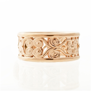 filigree wide band ring