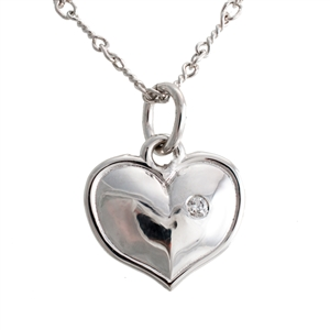 Diamond Heart Charm or Pendant