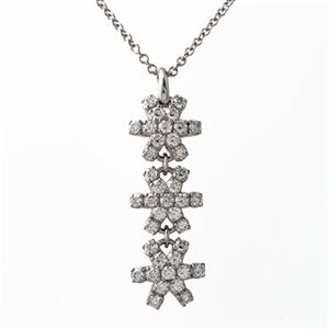 HopeStar 35 Three Drop Diamond Pendant Necklace
