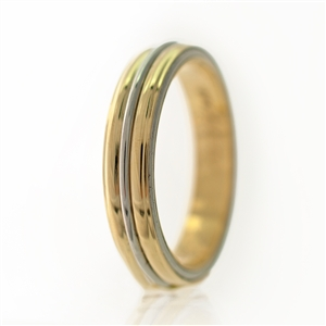 Middle Rail Multi Tone Men's Wedding Band