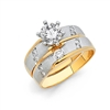 14K 2T CZ Engagement Ring Only