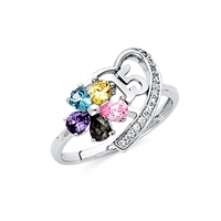 14KW 15 Years CZ Ring