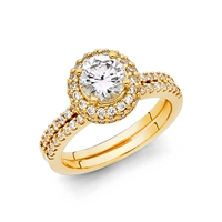 14KY CZ Ladies Wedding Band Only