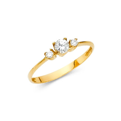 14KY CZ Engagement Ring