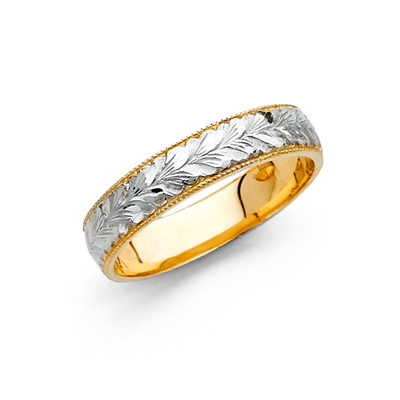 14K 2T 4mm Ladies Wedding Band