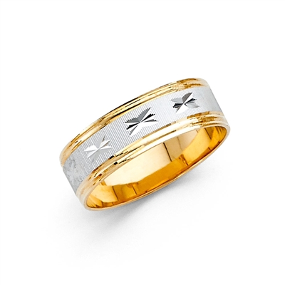 14K 2T 6mm DC Ladies Wedding Band
